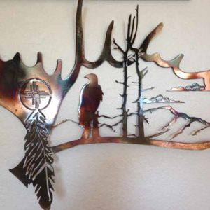 Moose Antler with Eagle